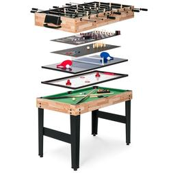 10-in-1 Combo Game Table Set Billiards Foosball Ping Pong Sl