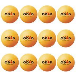 12 PCS Lot GOGO 3 Star Professional Orange Table Tennis Ping