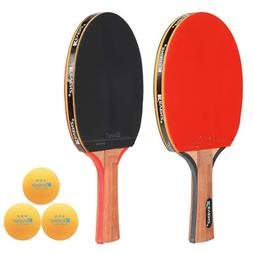 2-Pack KEVENZ Table Tennis Ping-Pong Racket Paddle Long Hadd