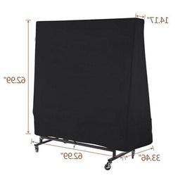 300D Heavy Duty Waterproof Tennis Ping Pong Tables Cover Bla
