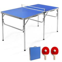 """60"""" Portable Table Tennis Ping Pong Folding Table w/Access"""