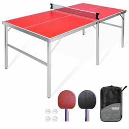 GoSports 6'x3' Mid-size Ping Pong Table Game Set | Indoo