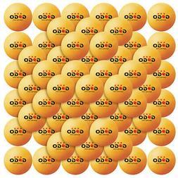 Clearance 72x Lot GOGO 3 Star Professional Orange Table Tenn