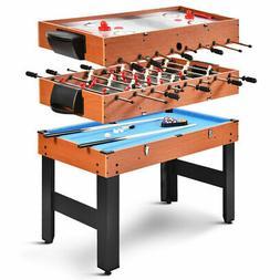 ALL NEW 3-IN-1 COMBO GAME TABLE BILLIARDS FOOSBALL SOCCER PO