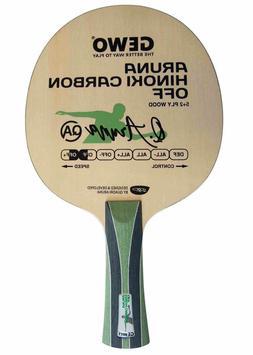 Gewo Aruna Hinoki Carbon OFF table tennis blade, FL handle