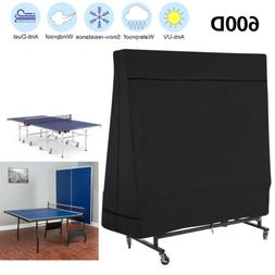 Black Breathable Heavy Duty 600D Table Tennis Ping Pong Tabl