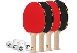 Killerspin Classic Ping Pong Paddles Table Tennis 4 Rackets