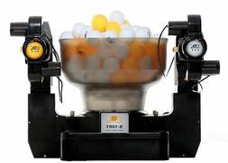 dual head 4 wheels table tennis robot