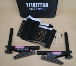 Butterfly Elite Clip Table Tennis Net Set Clamp On Ping Pong