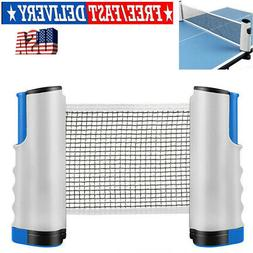 Games Retractable Table Tennis Ping Pong Portable Net Kit Re