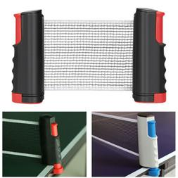 Retractable Table Tennis Ping Pong Net Portable Games Kit Re