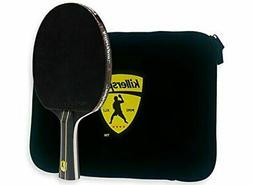 Killerspin JETBlack Table Tennis Paddle with Black Sleeve Ra