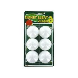 Bulk Buys KK029-72 White Plastic Table Tennis Balls - Pack o