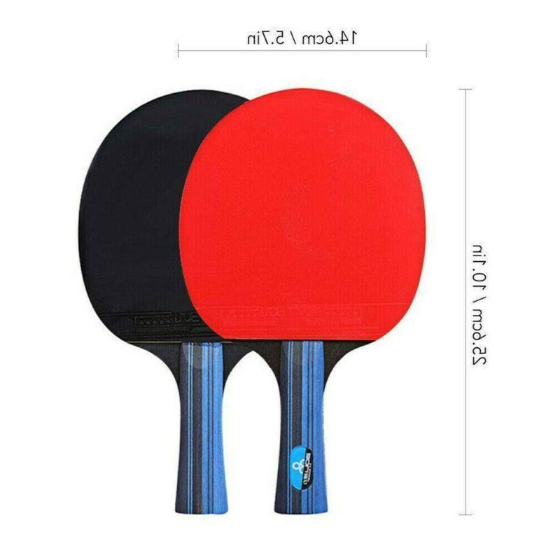 1Pair Tennis Ping Pong Paddle Bat+3pcs