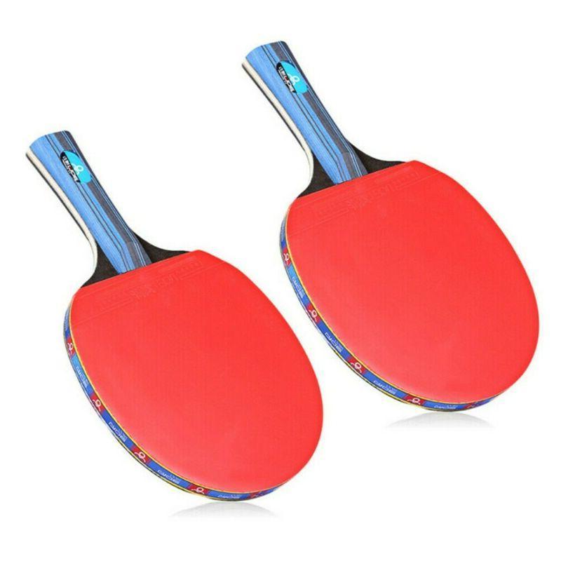 1Pair Table Tennis Ping Pong Racket Bat+3pcs Set