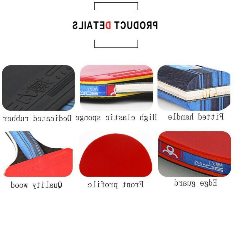 1Pair Table Tennis Ping Pong Bat+3pcs Set Sport