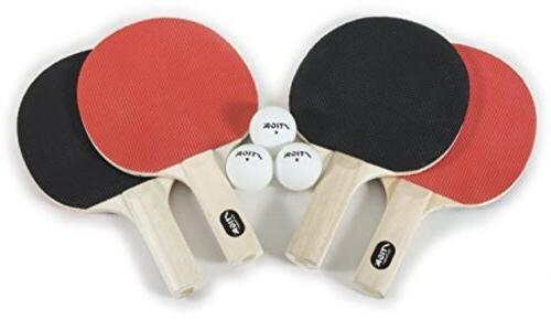 4 Player STIGA Classic Table Tennis Set Ping Pong Raquets Ba