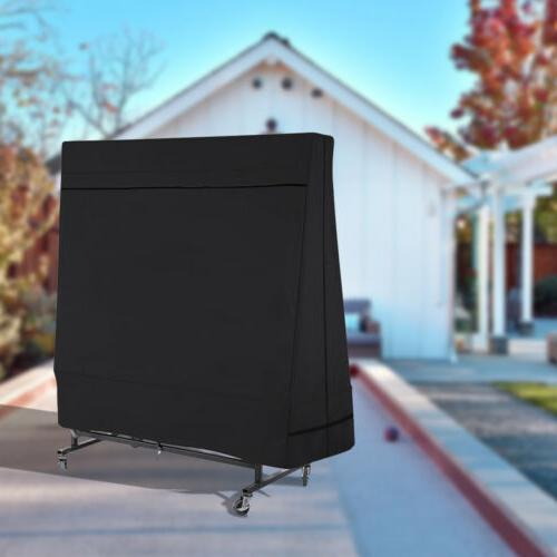 Black Breathable Duty 600D Pong Table Protector