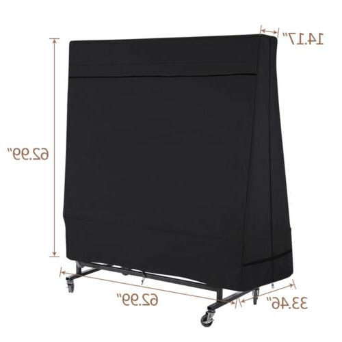 Black Heavy 600D Ping Pong Covers