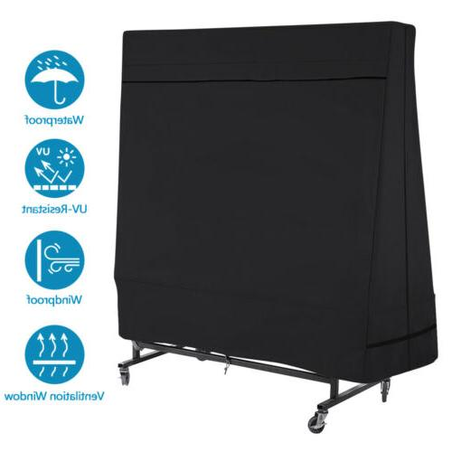 Black Heavy Duty 600D Table Ping Pong Table Protector