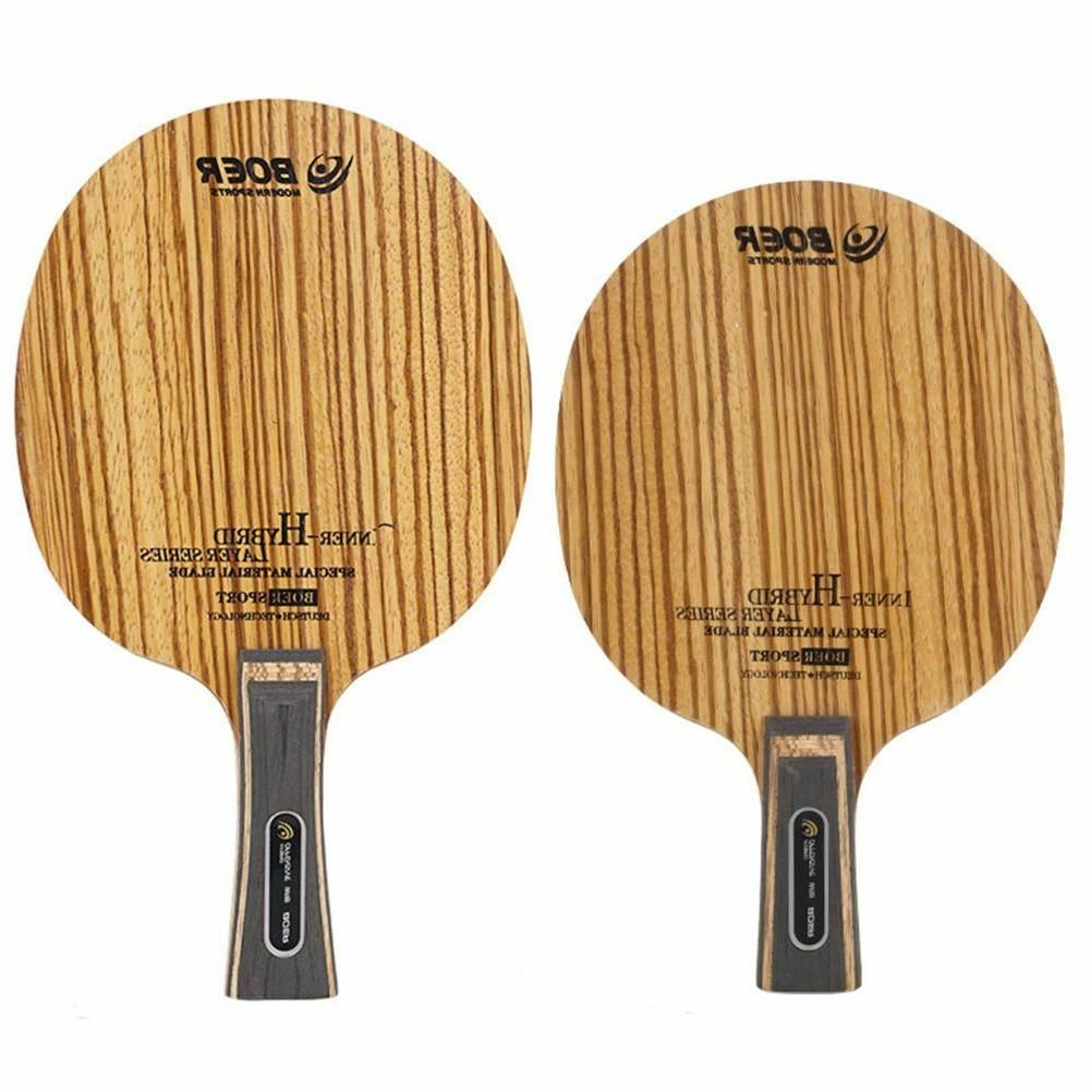 fiber table tennis rackets with double rubbers