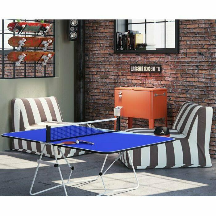 Mini Table Tennis Ping Pong Table with Net Foldable Lightwei