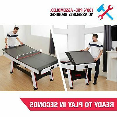 Table Tennis Conversion Top Portable Folding Ping Pong Indoo