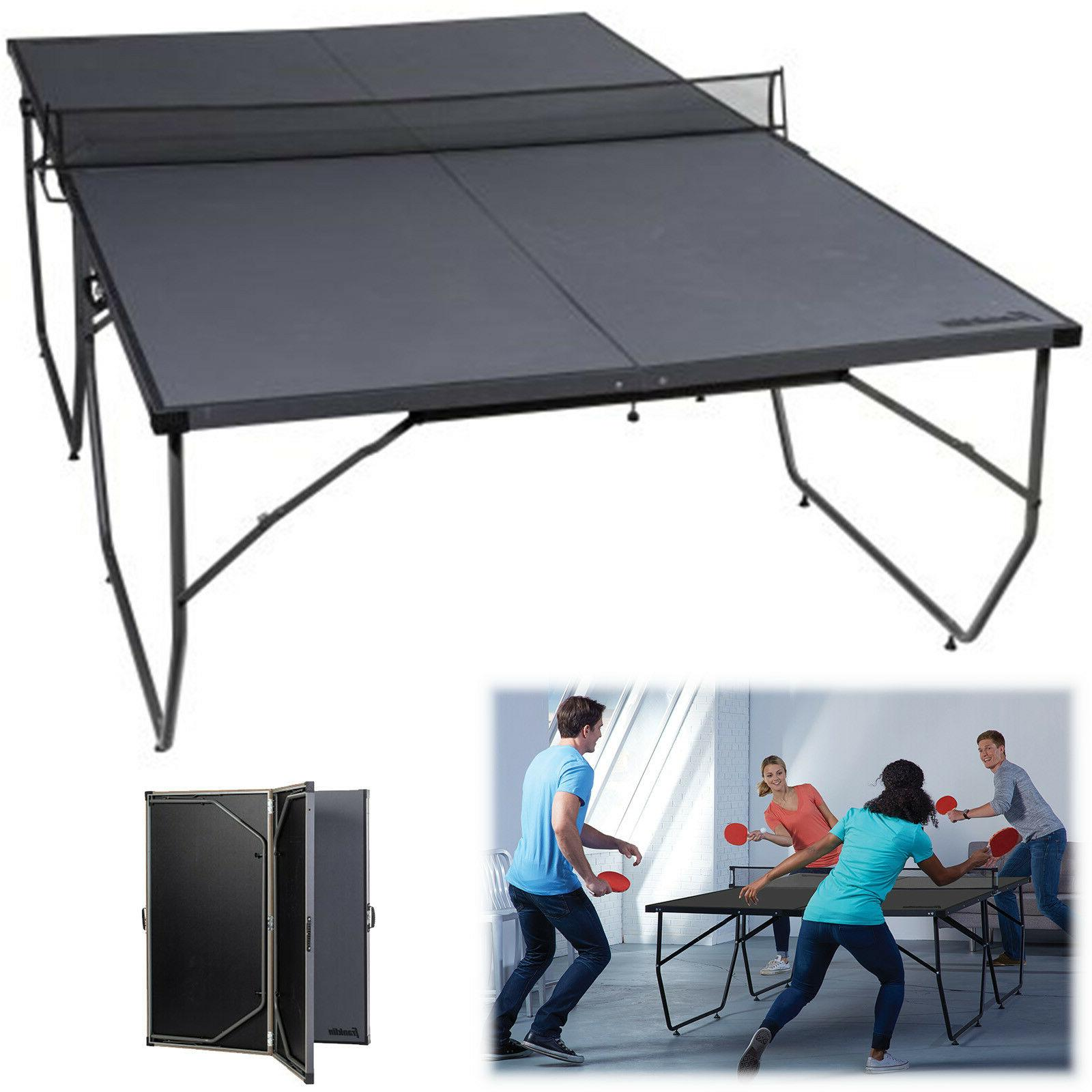 Folding Table Tennis Conversion Top Ping Pong Board Indoor O