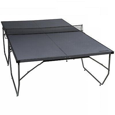 franklin sports table tennis gray black foldable