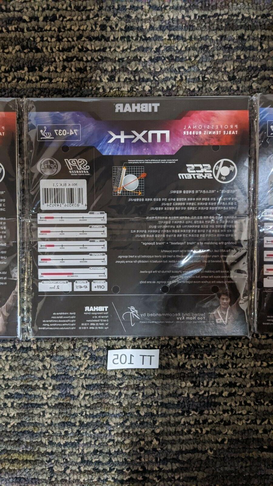 LOT Tibhar Evolution MX-K Tennis Pong Rubber Sponge