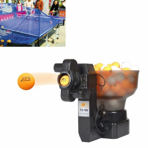 adjusted table tennis robot ping pong auto