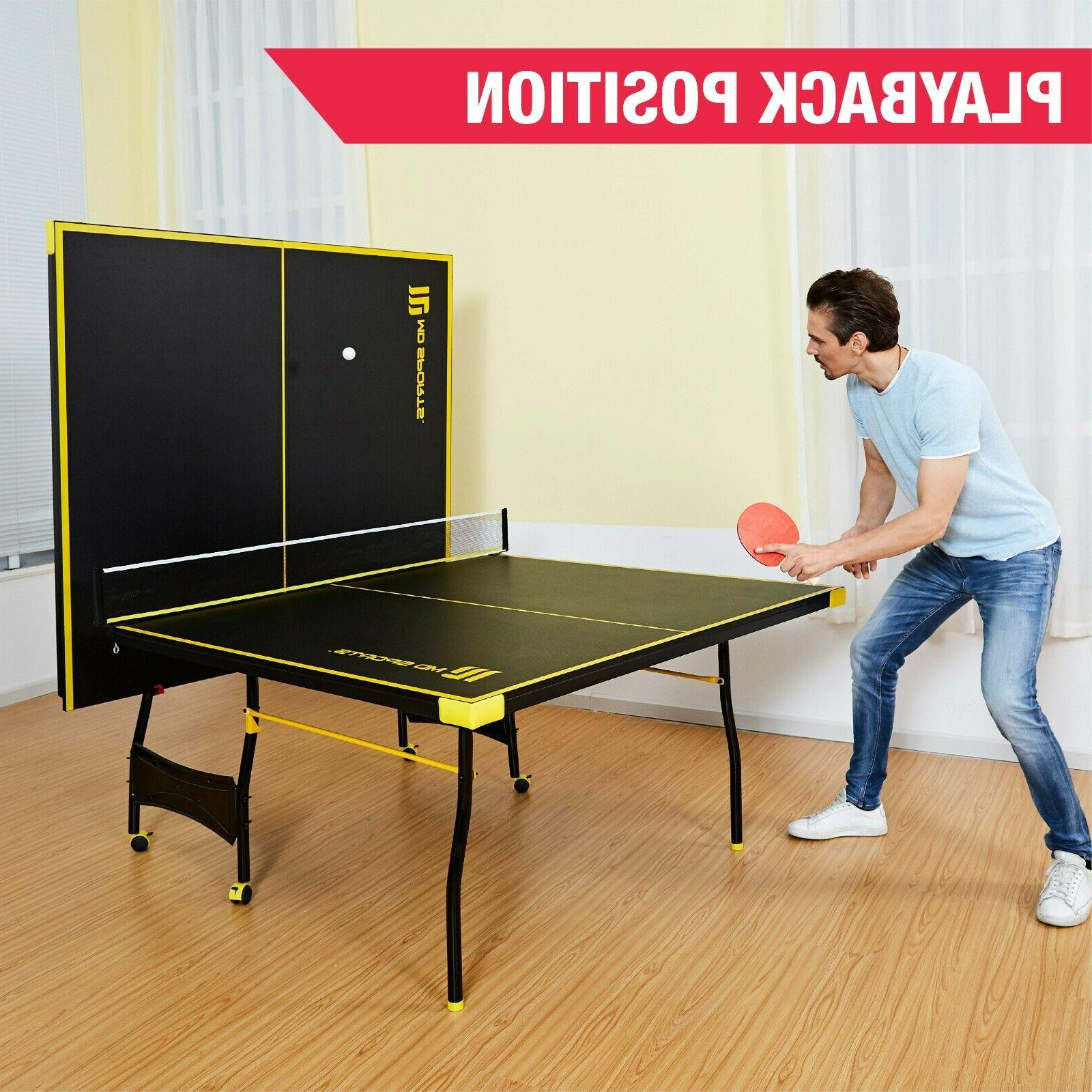 MD Sports Official 15mm Indoor Table Black