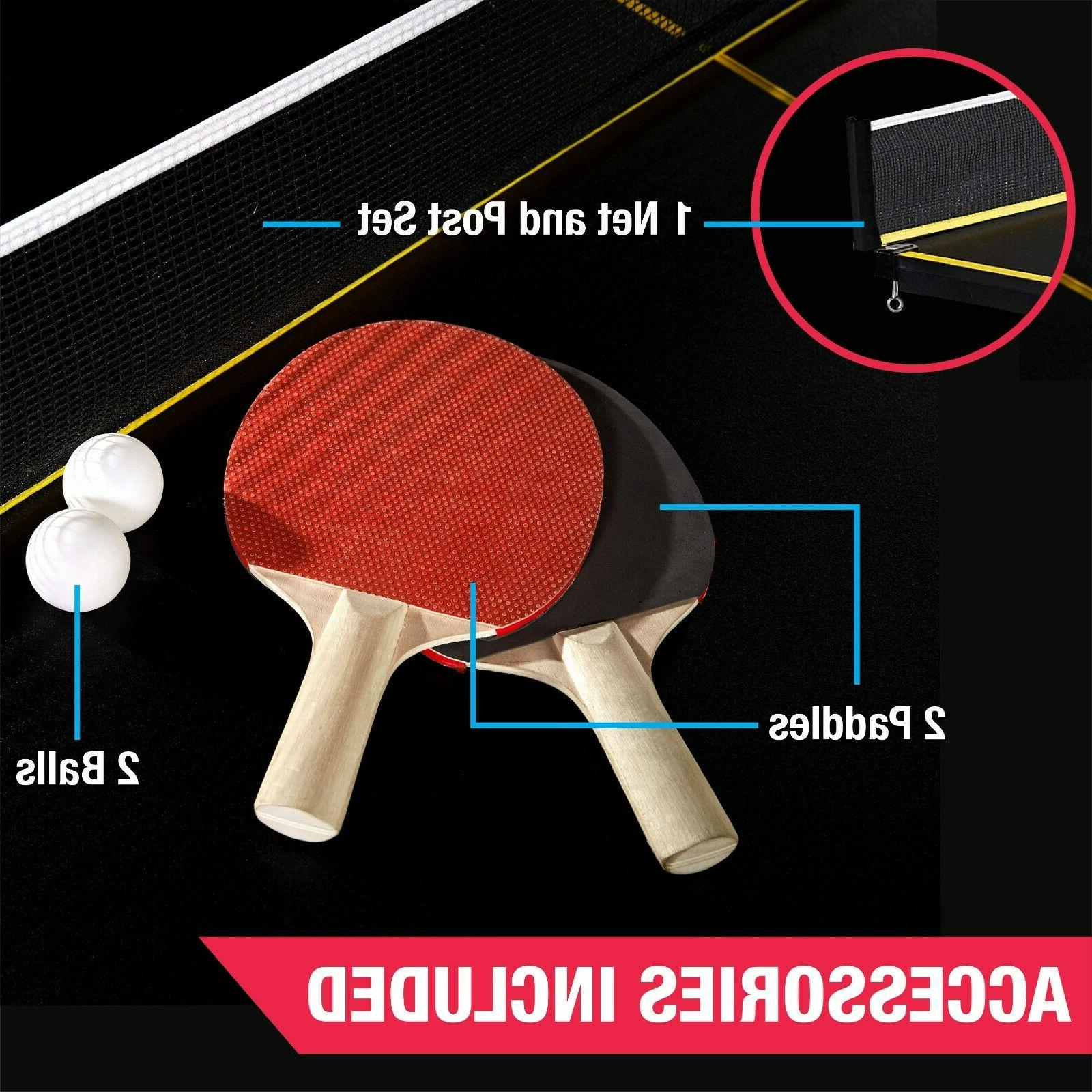 MD Sports Official Size 15mm 4 Pcs Indoor Table Tennis Accessories Yellow