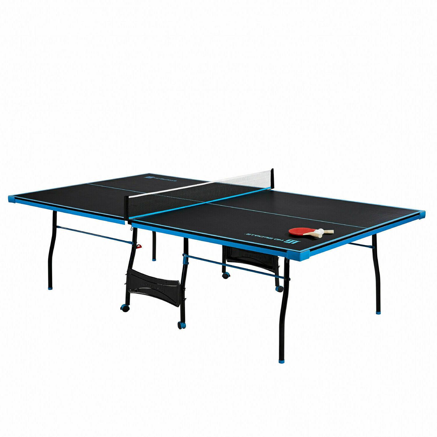 Official Size Table Tennis Ping Pong Table Indoor With Paddl