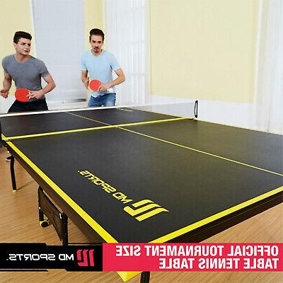MD Sports Official Size Table Tennis Table, with Paddle and