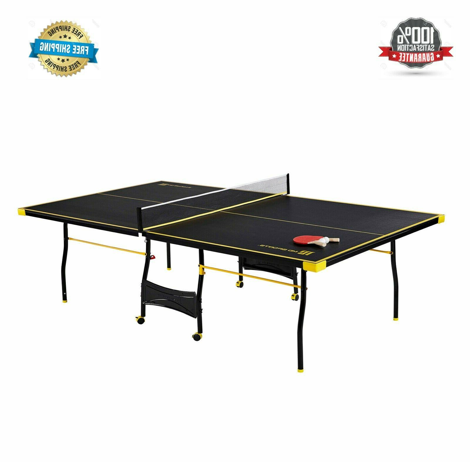 official size table tennis table with paddle
