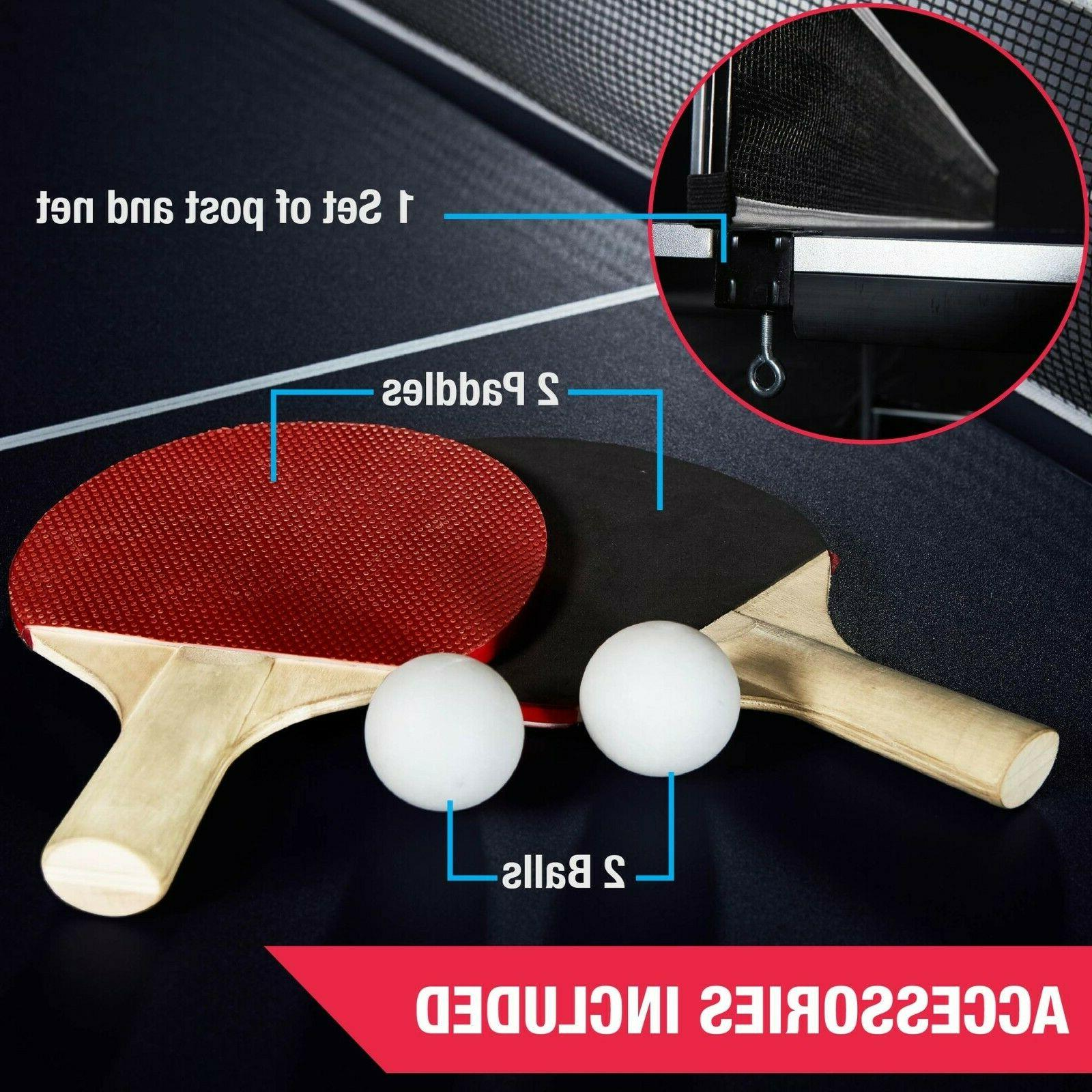 Ping Pong Table Table Paddle And