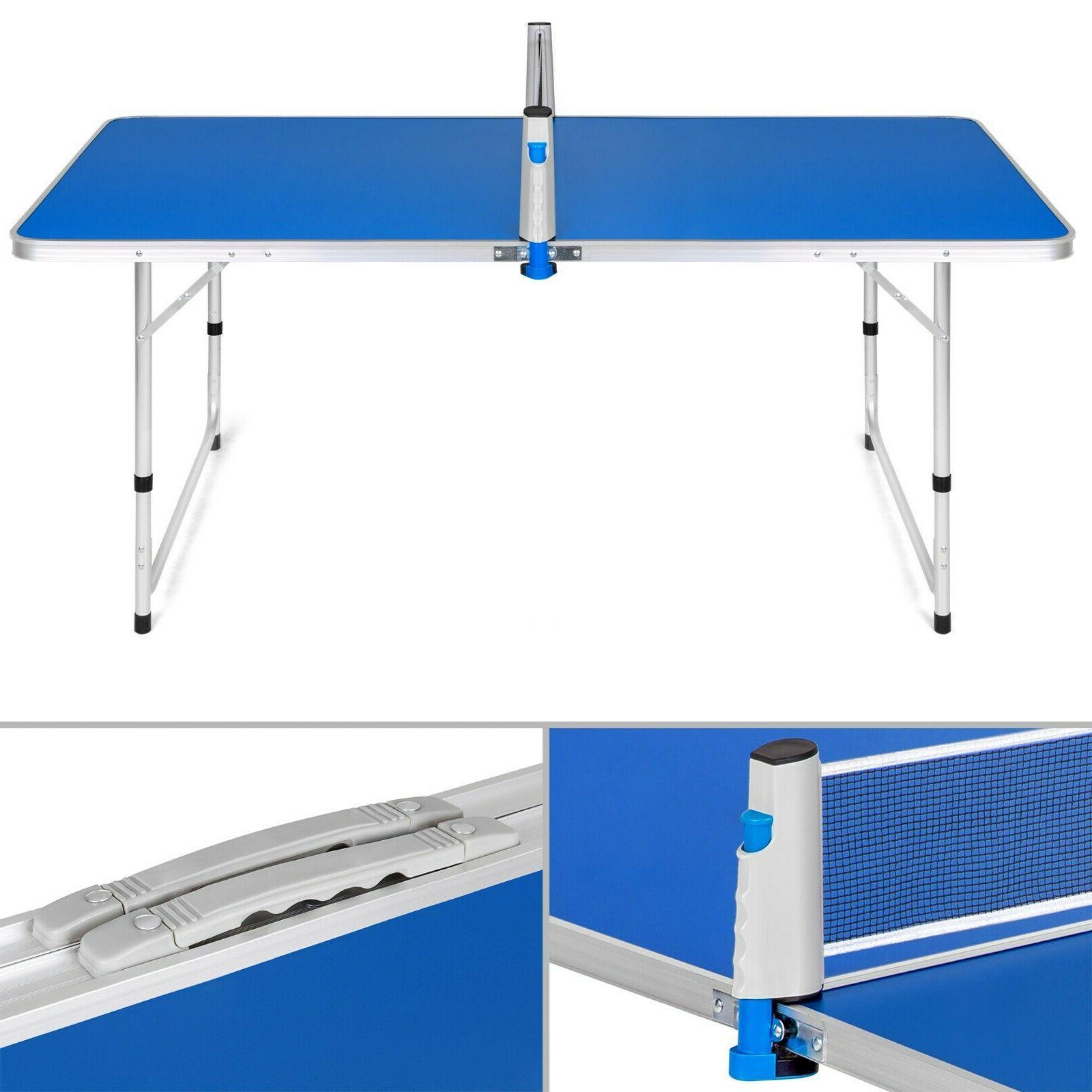 Portable Ping Pong Table Tennis Folding Camping Picnic Game