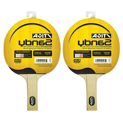Stiga Set of 2 Sandy Premium Table Tennis Ping Pong Paddle