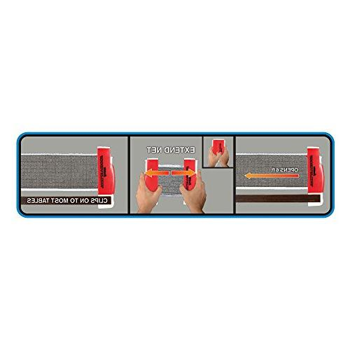 Franklin Sports Table Tennis To-Go – Complete Ping-Pong Ping-Pong Net, – Set-Up Expands to Easily Attaches to Surfaces