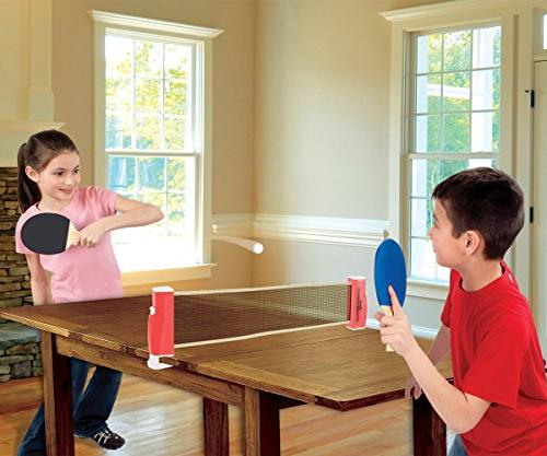 Franklin To-Go – Complete Ping-Pong Ping-Pong and Net, – Easy Expands Easily Attaches Surfaces