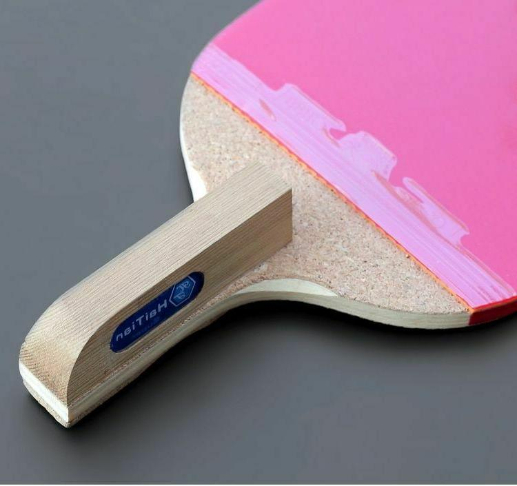 Table Tennis Racket Wood Pingpong Racket Paddle Sport Fitness Pong