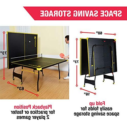 MD Set, Regulation Ping Table with Net, and Balls - & Yellow