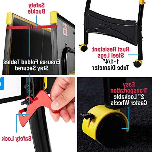 MD Tennis Set, Pong Table with Paddles and - Black & Yellow