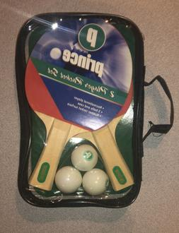 NEW! 2 Player Prince Ping Pong Paddle Table Tennis Rackets &