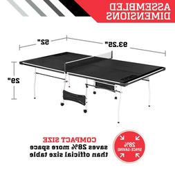 NEW Ping Pong Table Mid Size 4-pc Indoor Table Tennis Access
