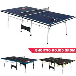 Official Size Indoor Tennis Ping Pong Table 2 Paddles and Ba
