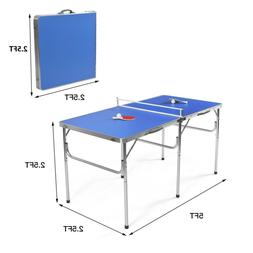 Official Size Tennis Ping Pong Indoor Foldable Table, Paddle