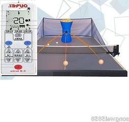 OUKEI Table Tennis Robot W/Wireless Remote Control & 2 Throw