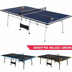 Outdoor Ping Pong Table Tennis Official Size Indoor 2 Paddle